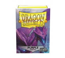 Dragon Shield Sleeves Matte Purple Non-Glare (100 stuks)