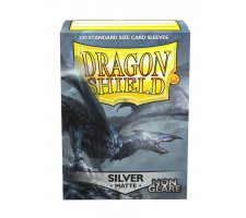 Dragon Shield Sleeves Matte Silver Non-Glare (100 stuks)