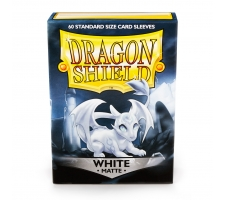 Dragon Shield Sleeves Matte White (60 stuks)
