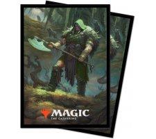 Sleeves Throne of Eldraine: Garruk, Cursed Huntsman (100 stuks)