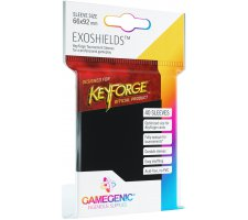 Gamegenic KeyForge Exoshields Tournament Sleeves: Black (40 stuks)