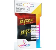 Gamegenic KeyForge Logo Sleeves: Black (40 stuks)