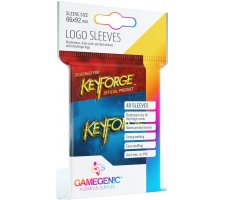 Gamegenic KeyForge Logo Sleeves: Blue (40 stuks)