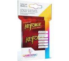 Gamegenic KeyForge Logo Sleeves: Red (40 stuks)