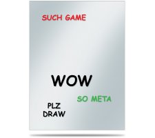 Deck Protector Covers Memes: WOW (50 pieces)