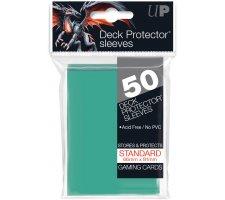 Deck Protectors Solid Aqua (50 pieces)