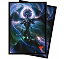 Sleeves War of the Spark: Nicol Bolas, Dragon-God (100 stuks)