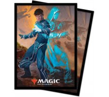 Sleeves Zendikar Rising: Jace, Mirror Mage (100 stuks)