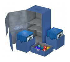 Ultimate Guard Twin Flip'n'Tray Deck Case 200+ XenoSkin Blue