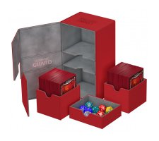 Ultimate Guard Twin Flip'n'Tray Deck Case 200+ XenoSkin Red