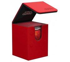 Ultimate Guard Flip Deck Case 100+ Leatherette Red
