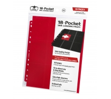 Ultimate Guard 18 Pocket Pages Side Loading Red (10 stuks)