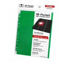 Ultimate Guard 18 Pocket Pages Side Loading Green (10 stuks)