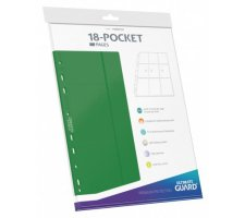Ultimate Guard 18 Pocket Pages Side Loading Green (10 pieces)