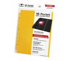 Ultimate Guard 18 Pocket Pages Side Loading Yellow (10 stuks)