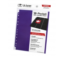 Ultimate Guard 18 Pocket Pages Side Loading Purple (10 stuks)
