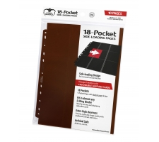 Ultimate Guard 18 Pocket Pages Side Loading Brown (10 stuks)