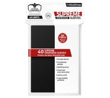 Ultimate Guard Supreme Sleeves Oversized Black (40 pieces)