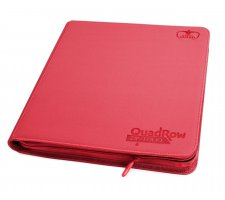 Ultimate Guard 12 Pocket QuadRow Zipfolio XenoSkin Red