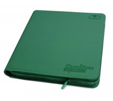 Ultimate Guard 12 Pocket QuadRow Zipfolio XenoSkin Green