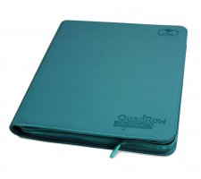 Ultimate Guard 12 Pocket QuadRow Zipfolio XenoSkin Petrol Blue