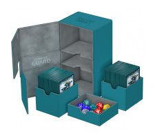 Ultimate Guard Twin Flip'n'Tray Deck Case 200+ XenoSkin Petrol Blue