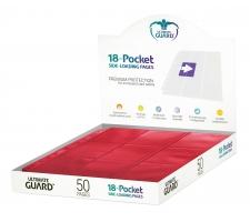 Ultimate Guard 18 Pocket Pages Side Loading Red (50 stuks)