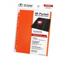 Ultimate Guard 18 Pocket Pages Side Loading Orange (10 stuks)