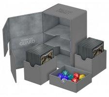Ultimate Guard Twin Flip'n'Tray Deck Case 160+ XenoSkin Gray