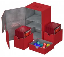 Ultimate Guard Twin Flip'n'Tray Deck Case 160+ XenoSkin Red