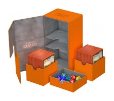 Ultimate Guard Twin Flip'n'Tray Deck Case 200+ XenoSkin Orange
