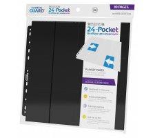 Ultimate Guard 24 Pocket QuadRow Pages Side Loading Black (10 stuks)