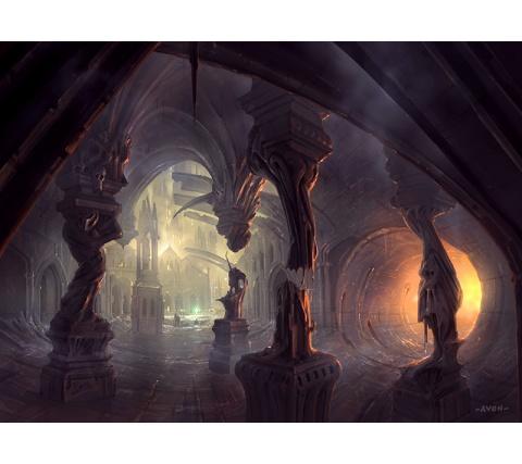 John Avon Art: Return to Ravnica Swamp