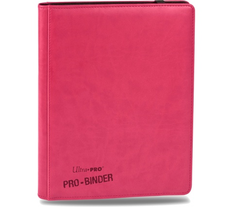 Premium Pro 9 Pocket Binder Bright Pink