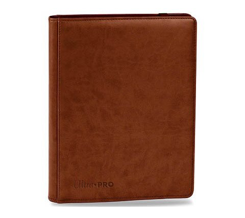 Premium Pro 9 Pocket Binder Brown