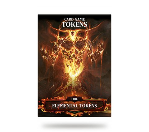 Card Game Tokens Booster: Premium Red Elemental Tokens (version 2)