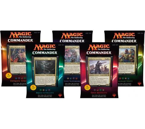 Commander 2016 complete set decks