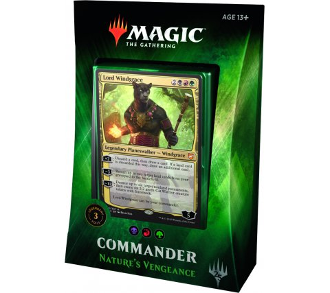 Commander 2018: Nature's Vengeance (Black, Red & Green)