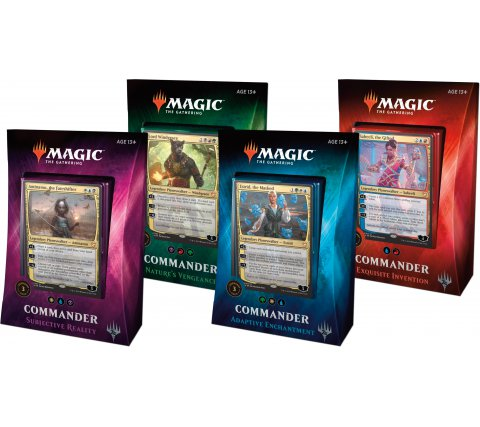 Commander 2018 complete set decks
