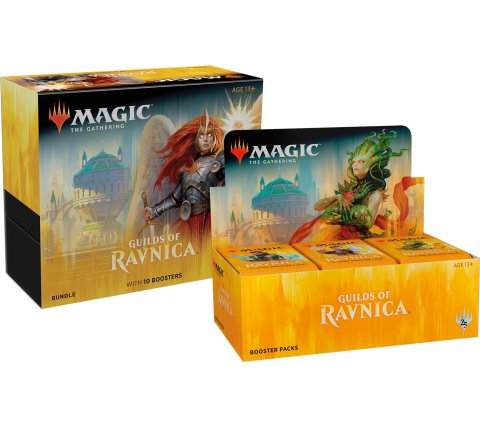 Boosterbox + Bundle Guilds of Ravnica (+ gratis Planeswalker Pack)