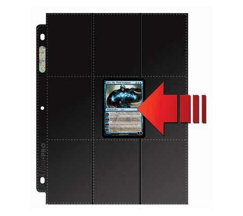 18 Pocket Pages Side Loading Black (50 pieces)