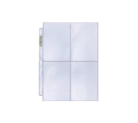 4 Pocket Pages Top Loading Clear Platinum (100 pieces)