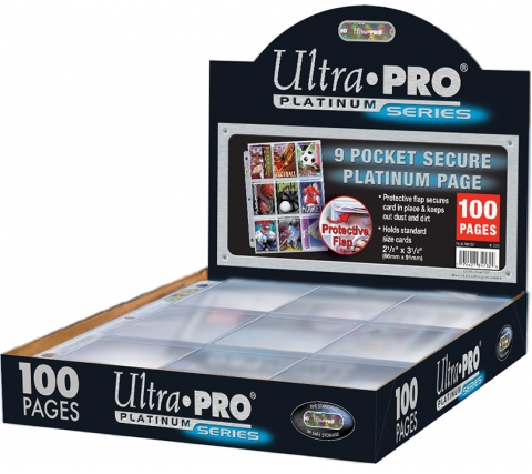9 Pocket Pages Top Loading Clear Platinum Secure (100 pieces)
