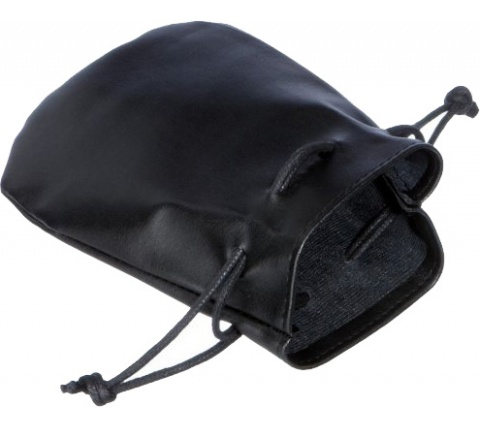 Leather Dice Bag Black (small)