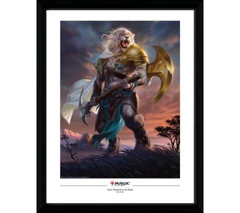 Framed Poster: Ajani, Strength of the Pride
