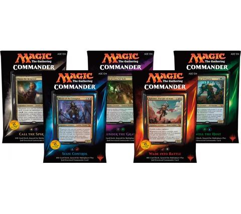 Commander 2015 complete set decks