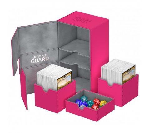 Ultimate Guard Twin Flip'n'Tray Deck Case 200+ XenoSkin Pink