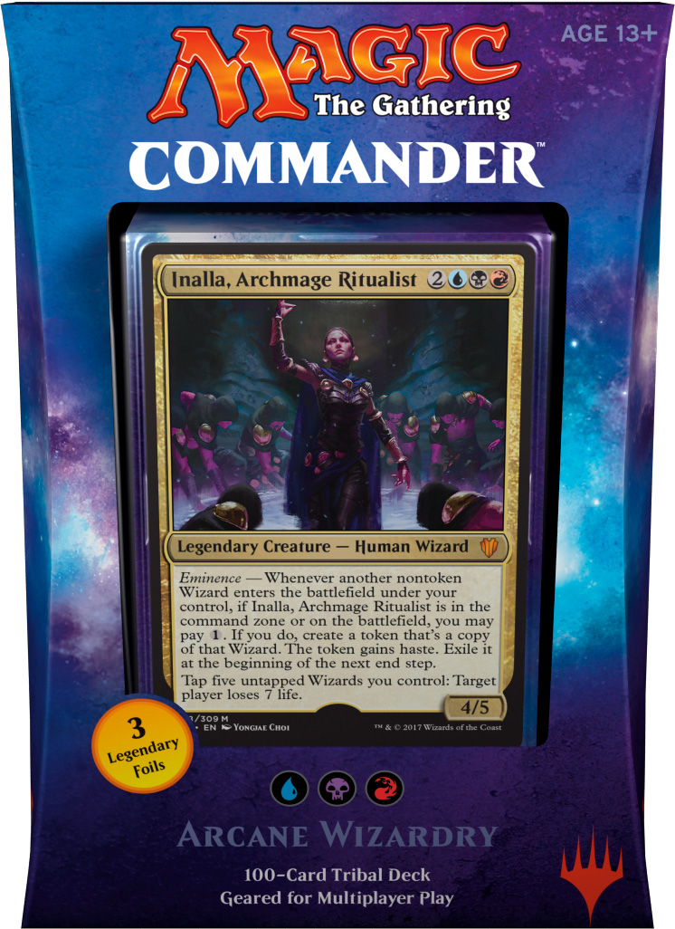 Commander 2017 Inalla Playmat for Magic Arcane Wizardry